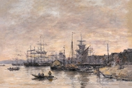 Bordeaux, the Harbor painting reproduction, Eugene-Louis Boudin