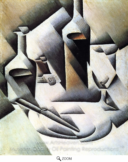 Juan Gris, Bottles and Knife oil painting reproduction