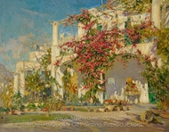 Bougainvillea on Capri painting reproduction, Constantin A. Westchiloff