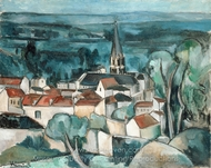 Bougival painting reproduction, Maurice De Vlaminck