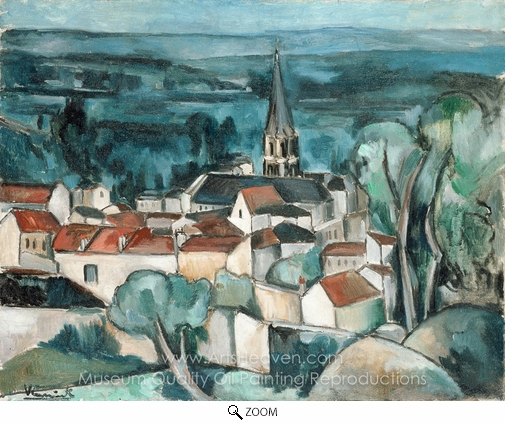 Maurice De Vlaminck, Bougival oil painting reproduction