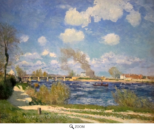 Alfred Sisley, Bougival oil painting reproduction