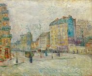 Boulevard de Clichy painting reproduction, Vincent Van Gogh