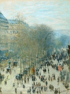 Boulevard des Capucines painting reproduction, Claude Monet