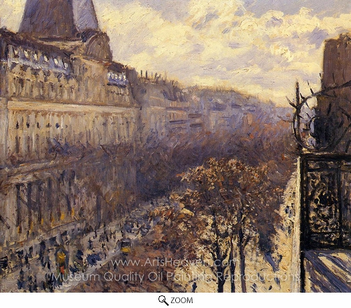 Gustave Caillebotte, Boulevard des Italiens oil painting reproduction