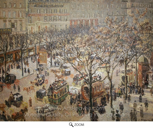 Camille Pissarro, Boulevard des Italiens: Morning, Sunlight oil painting reproduction