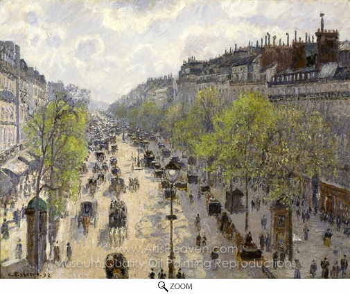 Camille Pissarro, Boulevard Montmartre, Spring oil painting reproduction