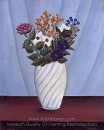 Bouquet of Flowers painting reproduction, Henri Rousseau