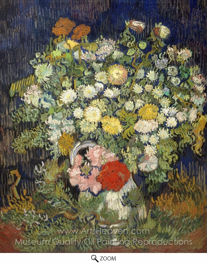 Vincent Van Gogh, Bouquet of Flowers in a Vase oil painting reproduction