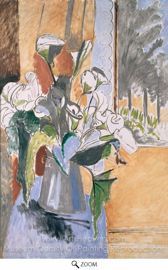 Henri Matisse, Bouquet of Flowers on a Veranda oil painting reproduction