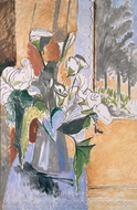 Bouquet of Flowers on a Veranda painting reproduction, Henri Matisse