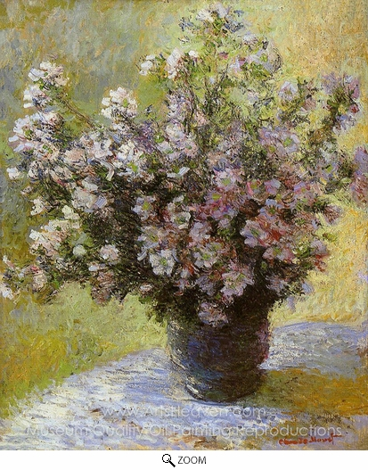 Claude Monet, Bouquet of Mallows oil painting reproduction