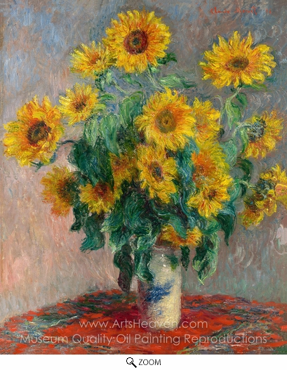 Claude Monet, Bouquet of Sunflowers oil painting reproduction