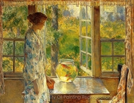 Bowl of Goldfish painting reproduction, Childe Hassam