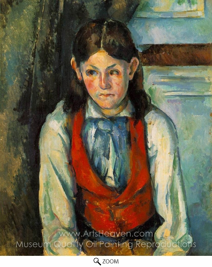 Paul Cézanne, Boy in a Red Vest oil painting reproduction