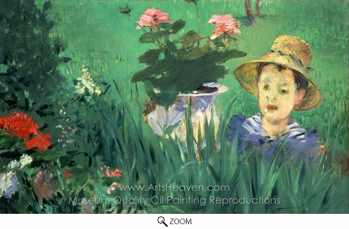 Édouard Manet, Boy in Flowers oil painting reproduction