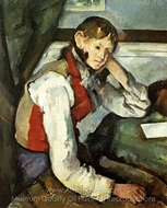 Boy in Red Vest painting reproduction, Paul C�zanne