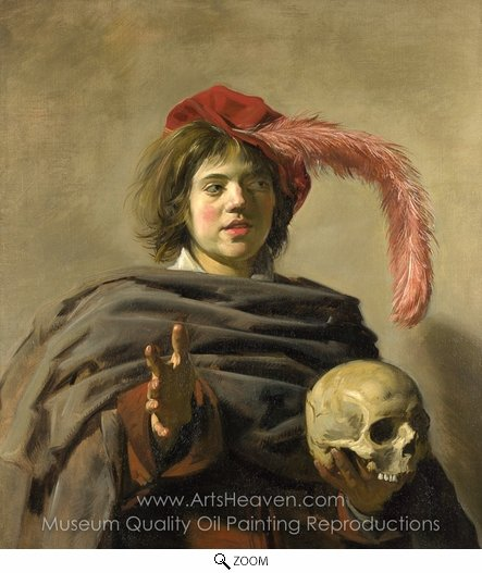 Frans Hals, Boy with a Skull oil painting reproduction