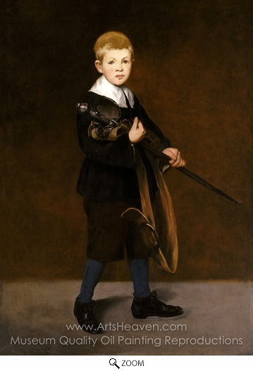 Édouard Manet, Boy with a Sword oil painting reproduction