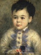 Boy with a Toy Soldier (Portrait of Jean de La Pommeraye) painting reproduction, Pierre-Auguste Renoir