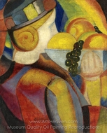 Boy with Fruits painting reproduction, Angel Zarraga