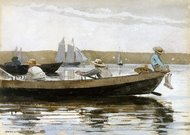 Boys in a Dory painting reproduction, Winslow Homer