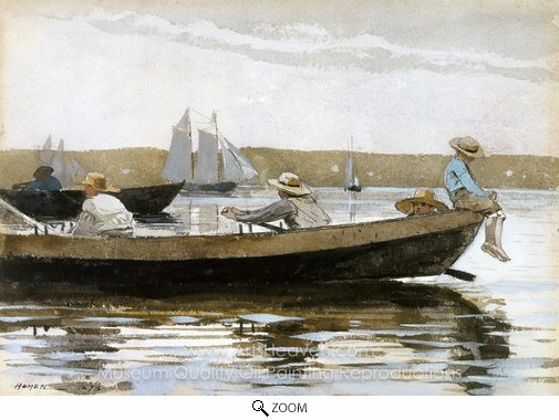 Winslow Homer, Boys in a Dory oil painting reproduction