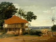 Brazilian Landscape with a Worker's House painting reproduction, Frans Post