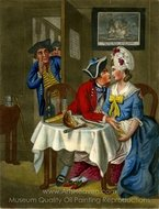 Bread and Cheese with Kisses painting reproduction, John Collet