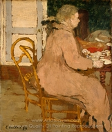 Breakfast painting reproduction, Edouard Vuillard