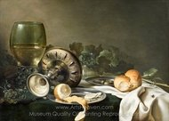 Breakfast Piece painting reproduction, Willem Claesz. Heda