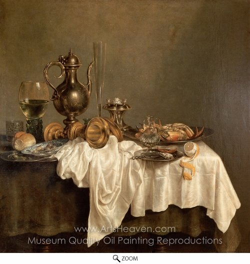 Willem Claesz. Heda, Breakfast with a Lobster oil painting reproduction