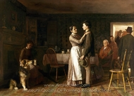 Breaking Home Ties painting reproduction, Thomas Hovenden