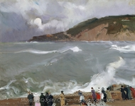 Breakwater, San Sebastian painting reproduction, Joaquin Sorolla