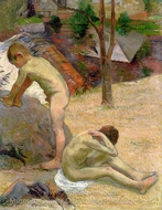 Breton Boys Bathing painting reproduction, Paul Gauguin