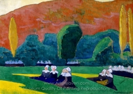 Breton Women Attending a Pardon painting reproduction, Emile Bernard