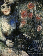 Bride with Bouquet painting reproduction, Marc Chagall (inspired by)
