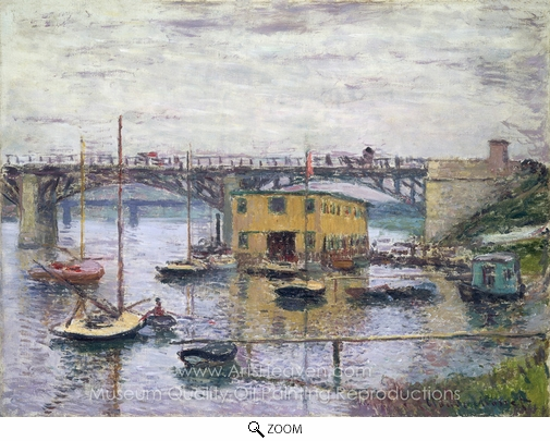 Claude Monet, Bridge at Argenteuil on a Gray Day oil painting reproduction