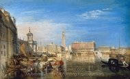 Bridge of Sighs, Ducal Palace and Custom House painting reproduction, Joseph M. W. Turner