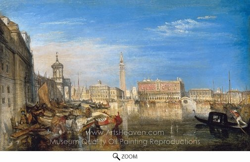 Joseph M. W. Turner, Bridge of Sighs, Ducal Palace and Custom House oil painting reproduction