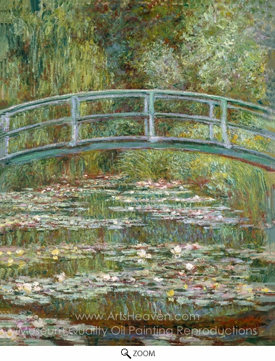 Claude Monet, Bridge over a Pond of Water Lilies oil painting reproduction