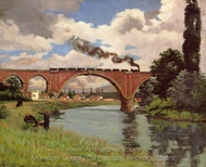 Bridge over the Marne at Joinville painting reproduction, Armand Guillaumin