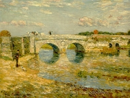 Bridge Over the Stour painting reproduction, Childe Hassam