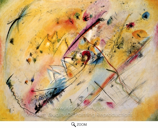 Wassily Kandinsky, Bright Picture oil painting reproduction