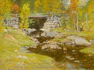 Brook in Autumn painting reproduction, John Joseph Enneking