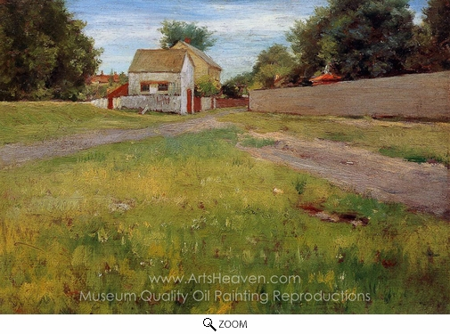 William Merritt Chase, Brooklyn Landscape oil painting reproduction