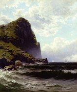 Brundith Head, Grand Manan painting reproduction, Alfred Thompson Bricher