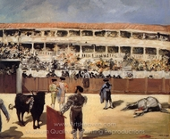 Bullfight painting reproduction, �douard Manet