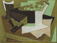Bunch of Grapes and Pear painting reproduction, Juan Gris