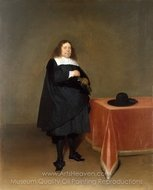 Burgomaster Jan van Duren painting reproduction, Gerard Ter Borch